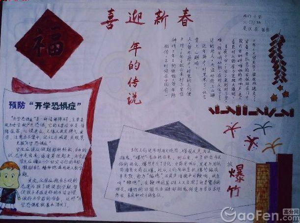 小学生春节手抄报素材:喜迎新