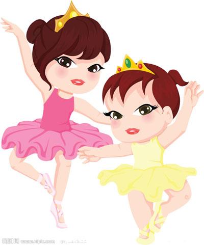 舞蹈基本功卡通图片