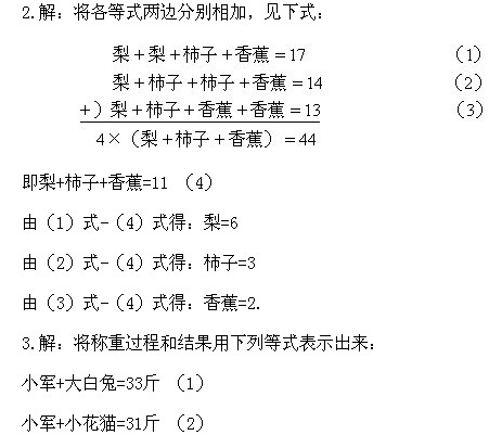 数 等式加减法练习题及答案 2
