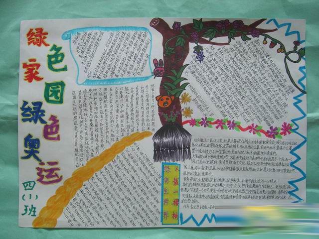 小学生植树节手抄报(3)