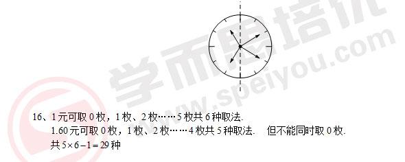 六年级,希望杯2012,希望杯数学竞赛,竞赛试题,答案