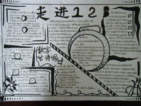 学生数学手抄报版面设计图 走进123