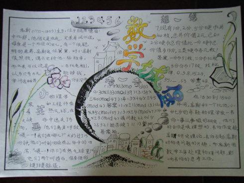 数学手抄报版面设计图:数学城堡.数学手抄报如何设计,做手抄-2015