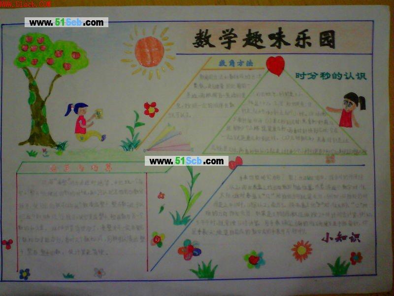 学生数学手抄报版面设计图:数学趣味乐园