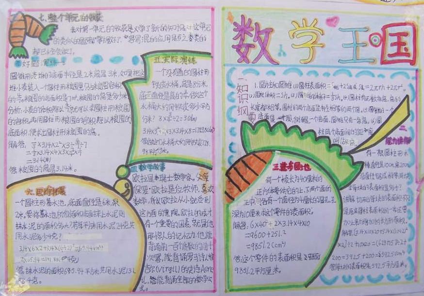 学生数学手抄报版面设计图:数学王国图片