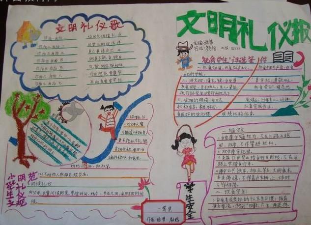 如何制作小学生文明礼仪名片-如何制作小学生个人