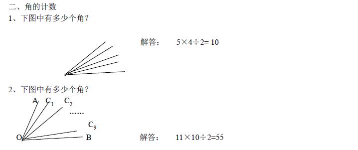 小学奥数几何图形计数知识点汇总