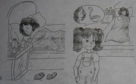 青岛小学语文二年级看图写话范文之生病篇