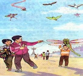 小学语文二年级看图写话范文之风筝篇图片
