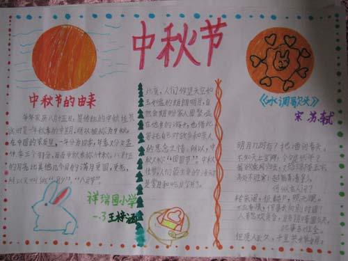 中秋节手抄报―中秋节的由来