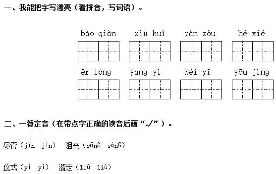 济南六年级语文《唯一的听众》复习题及答案