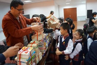 齐鲁学校捐书活动