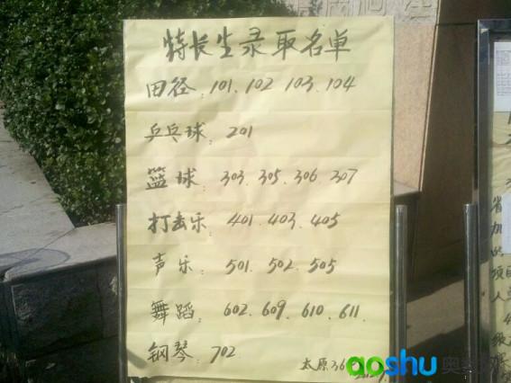 2012年三十六中小升初特长生录取奥数_潍坊情况网普通高中太原图片