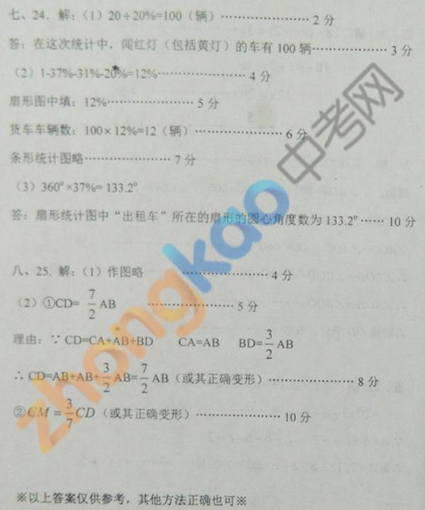 沈阳市铁西区2012 2013学年七年级数学期末考试题答案 3