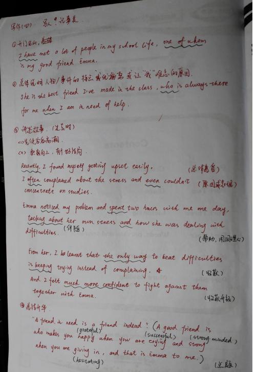 中考英语作文模板 学而思老师备课笔记(3)