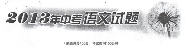 2013年沈阳中考语文试题