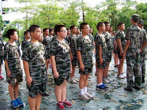 初中军训的作文感想初中预科班西安图片