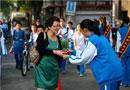 三帆中学团委学生会献上教师节贺礼