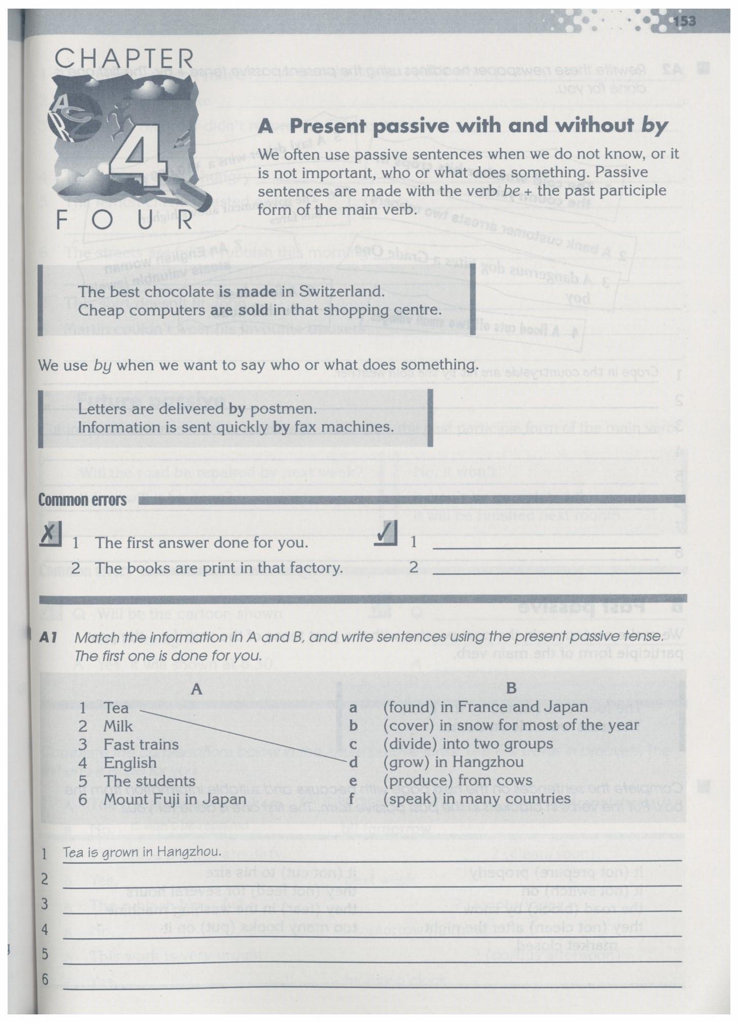沈阳版牛津英语9A教材Chapter4-Grammar Practice Book