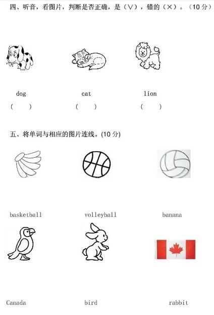 2013幼升小英语试题2