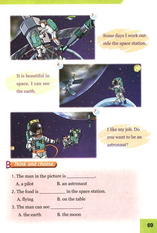 人教版新起点四年级英语课本上册 Unit7 jobs 4图片