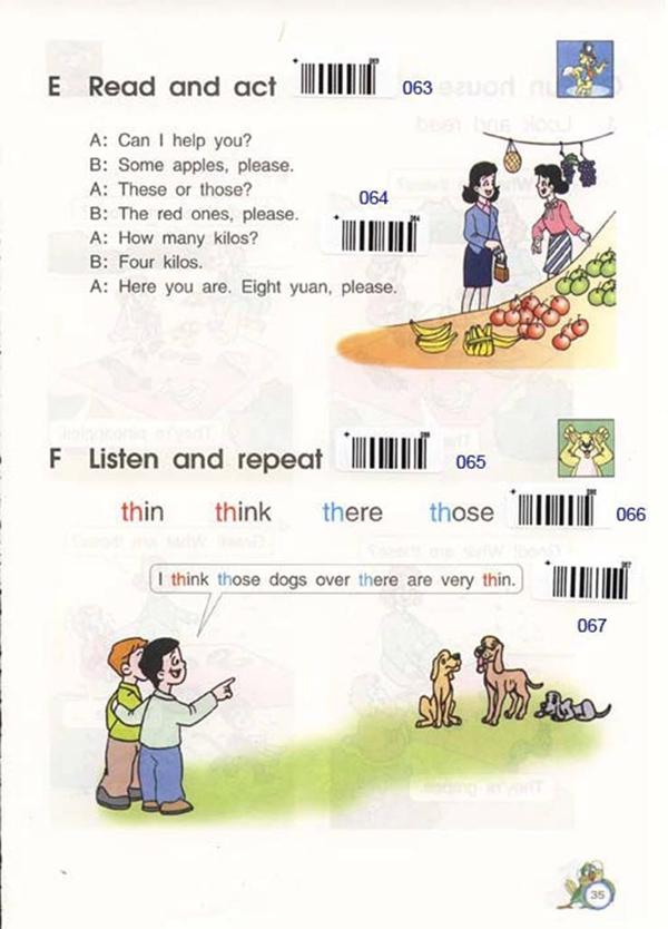 苏教版牛津小学英语课本四年级下册 Unit4 buying fruit 3