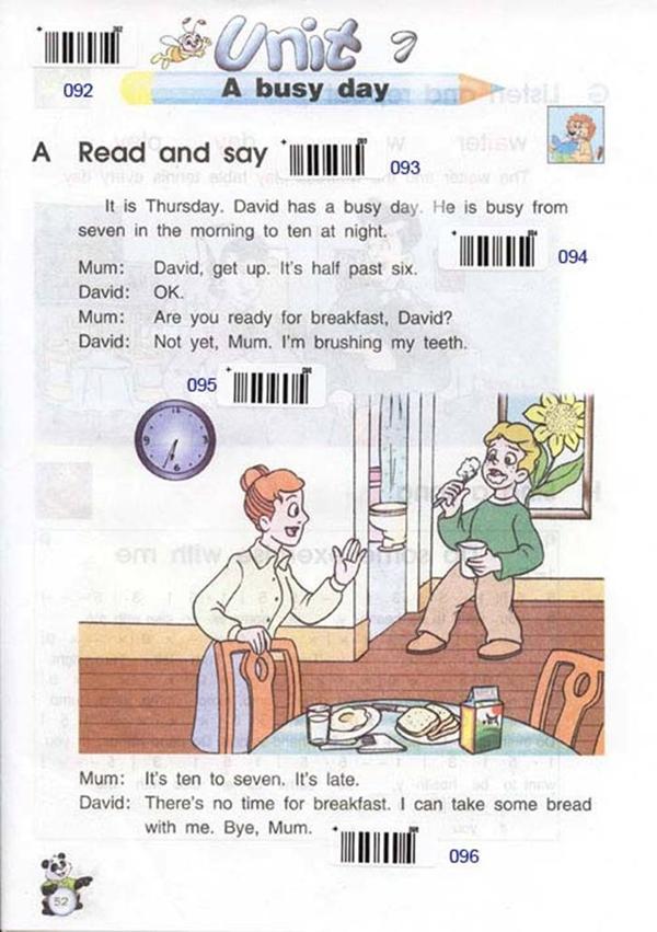 苏教版牛津小学英语课本五年级下册 Unit7 a busy day