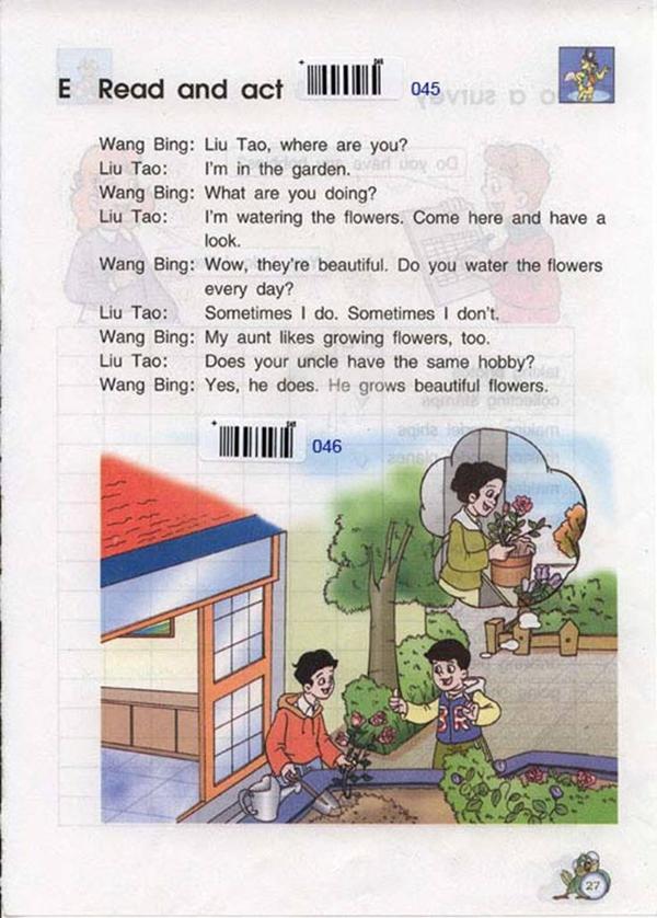 苏教版牛津小学英语课本五年级下册 Unit3 hobbies 3