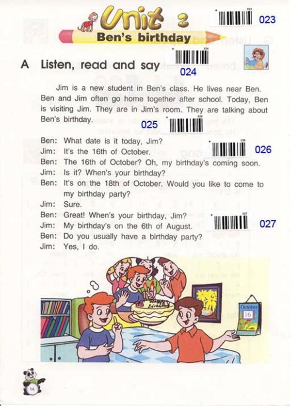 课本 苏教版 牛津小学英语 六年级 上册 unit2 birthday ben/苏教版牛津小学英语课本六年级上册:Unit2 ben's birthday