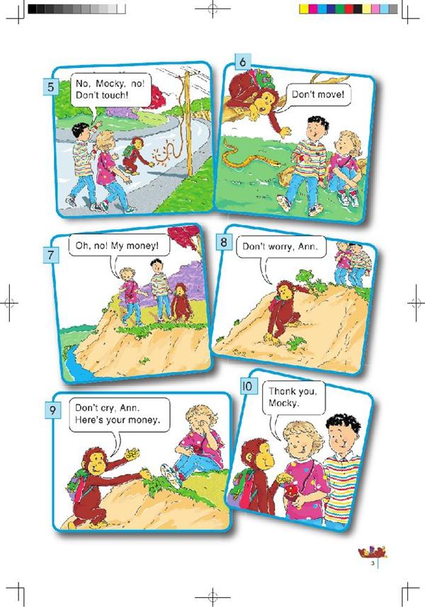 北师大版小学英语三年级英语课本上册:unit1 donrt walk!   高清图片