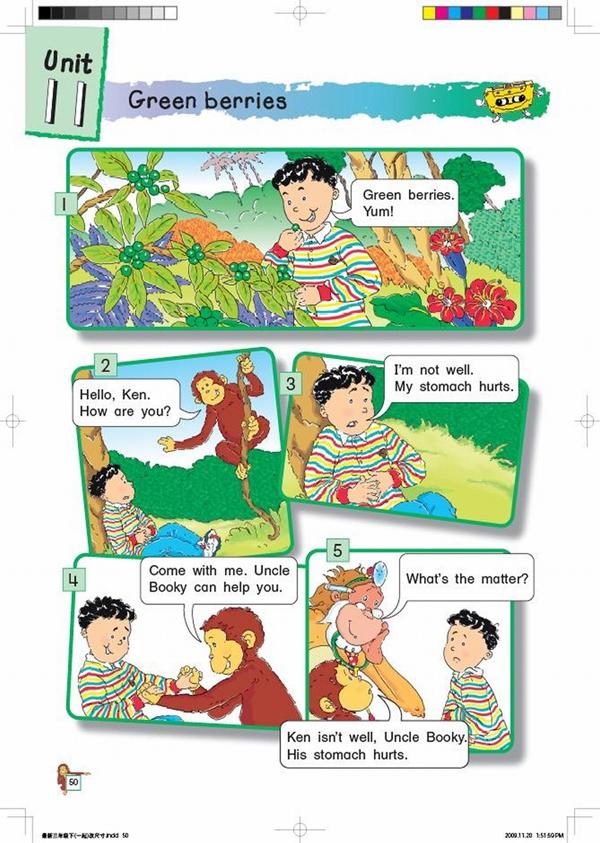 北师大版小学英语三年级英语课本下册:unit11 green berries高清图片