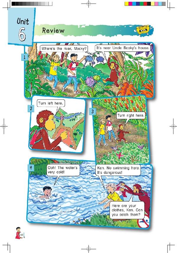 北师大版小学英语四年级英语课本上册:unit6 review高清图片