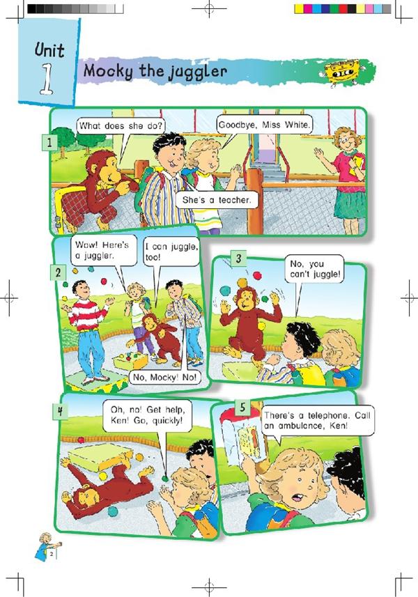 北师大版四年级英语课本上册 unit1高清图片