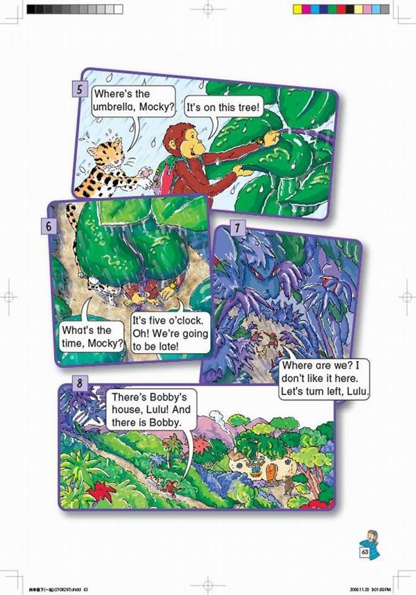 北师大版小学英语四年级英语课本上册:unit12 review高清图片