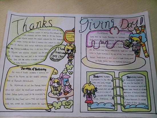 英语手抄报五年级图片