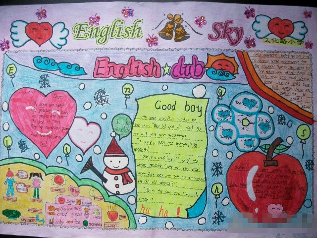 小学四年级英语手抄报