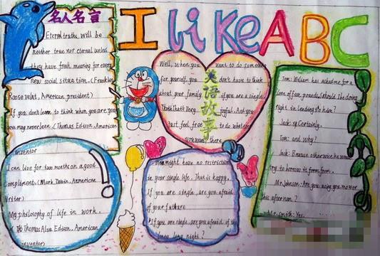 小学五年级英语手抄报:i