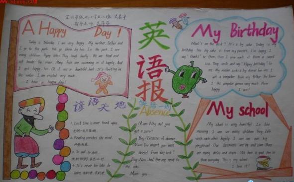 六一儿童节手抄报:我的生日