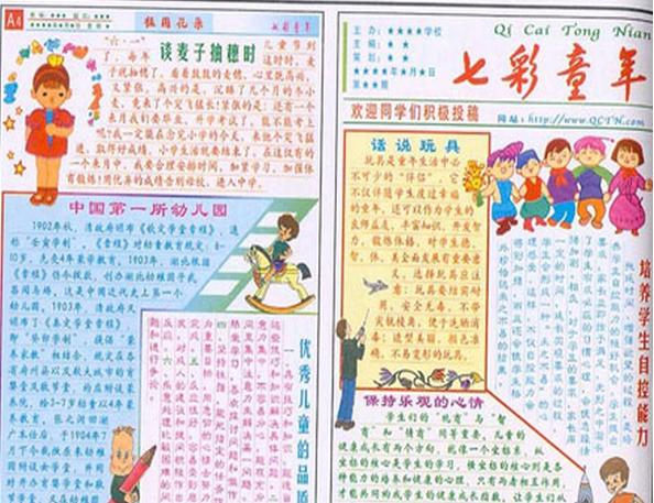 用一张六一儿童节英语手抄报来告诉大家你的快