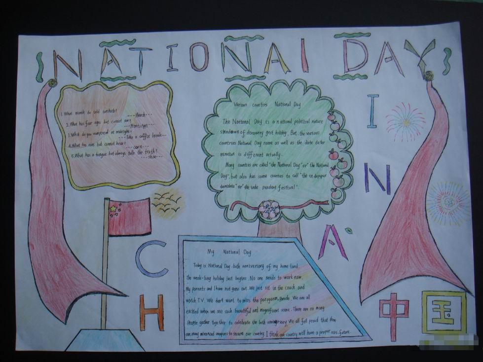 小学六年级英语手抄报:nationai