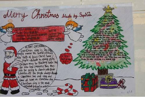 小学 三年级英语手抄报 merry christmas 英语网高清图片