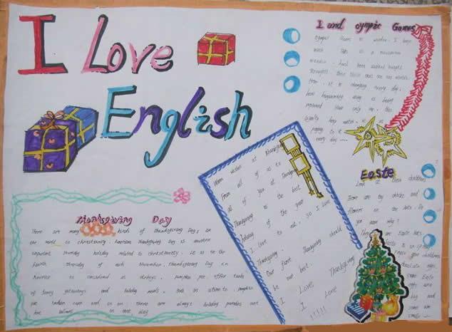 小学生三年级英语手抄报图片