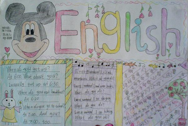 小学三年级英语手抄报:english