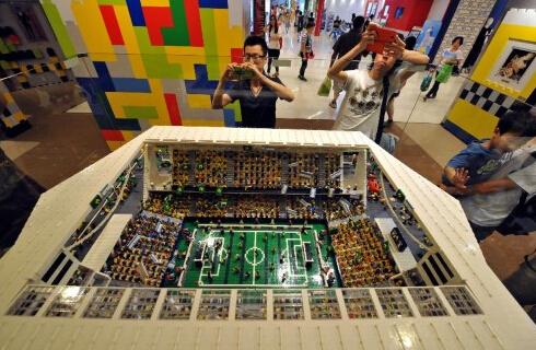 香港展出巴西世界杯场地乐高模型