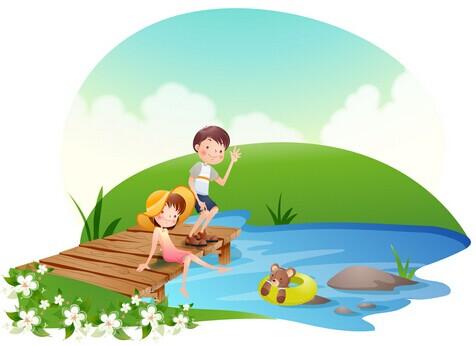 《玩水》小学生作文300字答:暑假的玩水大战暑假里,和哥哥一起去玩图片