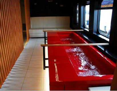 日本推出世界首款泡脚池度假列车