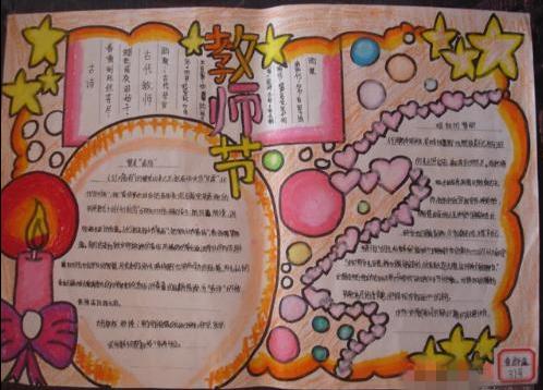 教师节英语手抄报:教师节