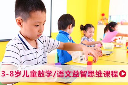 3-8岁儿童数学/语文思维益智课程