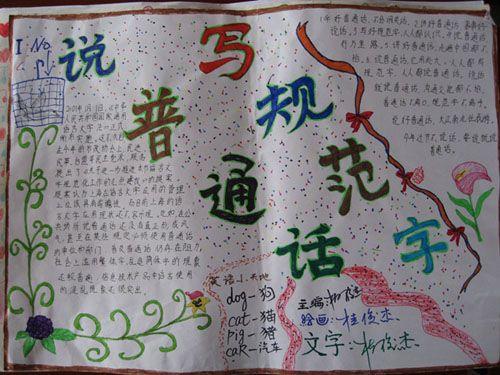 普通话手抄报 说普通话 写规范字