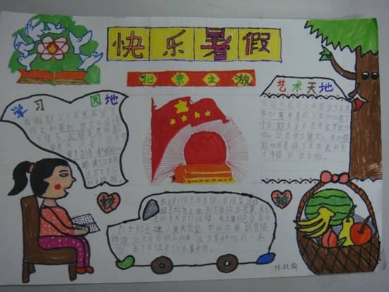 暑假手抄报:快乐暑假北京之游
